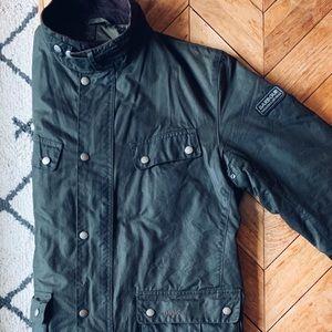 Barbour International Duke Wax Jacket Sage Green